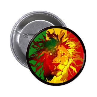 rasta reggae lion flag 2 inch round button