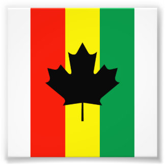Rasta Reggae Maple Leaf Flag Photo Art