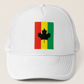 Rasta Reggae Maple Leaf Flag Trucker Hat