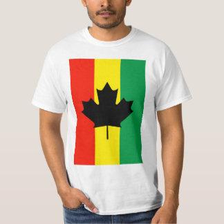 Rasta Reggae Maple Leaf Flag Tshirt