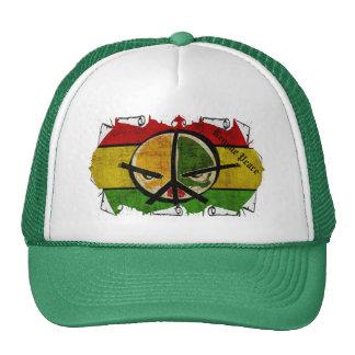 rasta reggae peace trucker hat