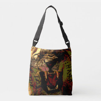 Rasta Roaring Lion Cross over Satchel Bag