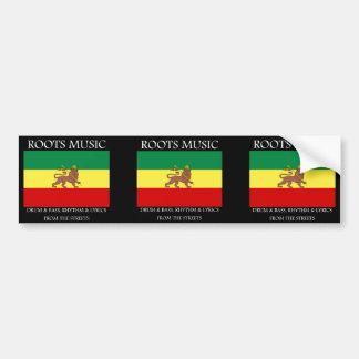 Rasta - Roots Music Ethiopia Flag Lion of Judah Bumper Stickers