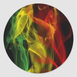 rasta round sticker