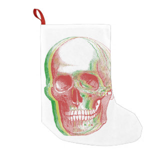 Rasta Skull Small Christmas Stocking