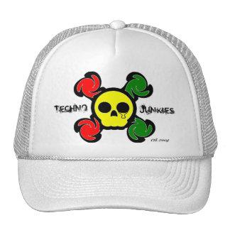 Rasta Skull Trucker Hat