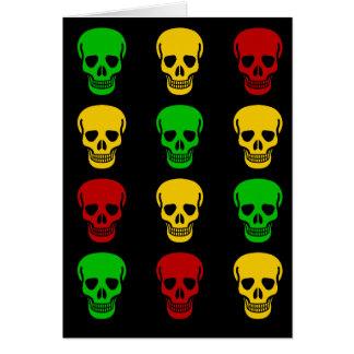 Rasta Skulls Card