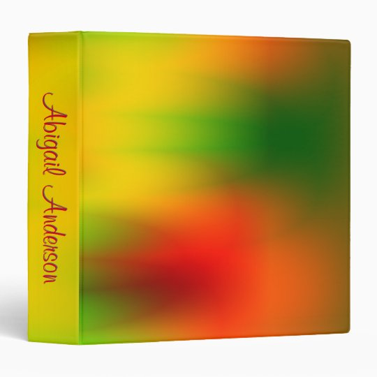 Rasta Splash of Colour Vinyl Binder