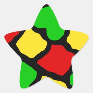 Rasta Spots Star Sticker
