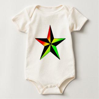 Rasta Star Baby Bodysuit