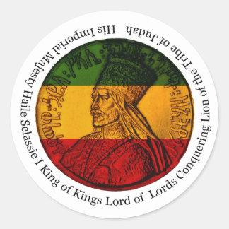 Rasta Sticker Conquering Lion of Judah His Majesty