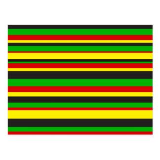 Rasta Stripes Postcard