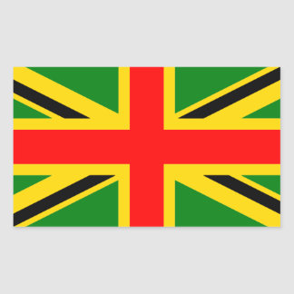 Rasta Union Jack Sticker