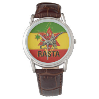 Rasta Watch Lion of Judah Red Gold Green Design