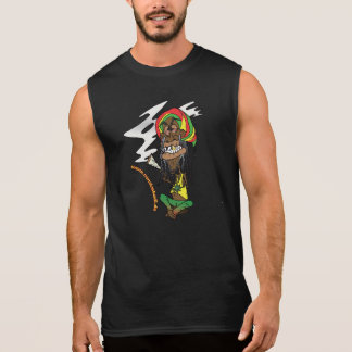 Rasta with Joint and Jamaica - cap Sleeveless Shirt