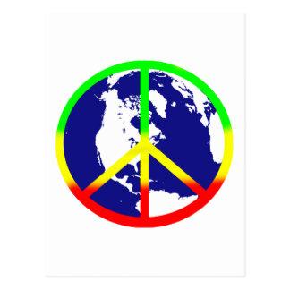 Rasta World Peace Postcard