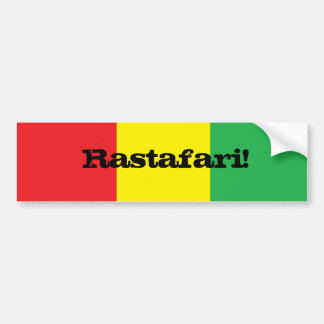 Rastafari! Design Bumper Sticker