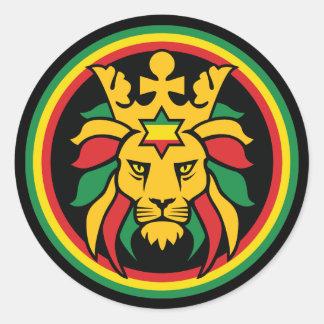Rastafari Dreadlocks Lion of Judah Classic Round Sticker