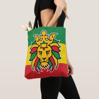 Rastafari Dreadlocks Lion of Judah Tote Bag