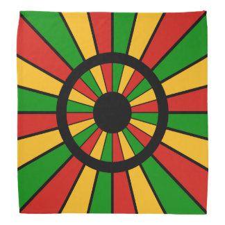 RASTAFARI FLAG BUTTON RAYS + your sign or monogram Do-rags