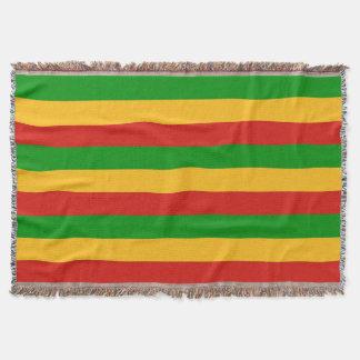 RASTAFARI FLAG COLORS + your ideas Throw