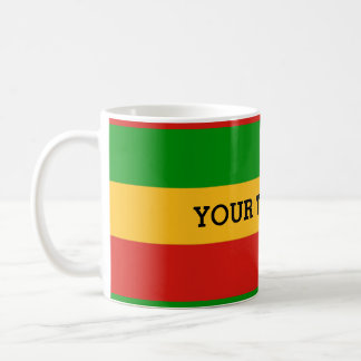 RASTAFARI FLAG COLORS + your text Coffee Mug
