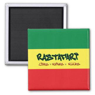 Rastafari Lives Reigns Rules Magnet
