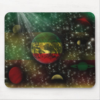 Rastafari Planets World Space Mousepad