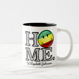 Rastafari Pride Smiling Flag Housewarming Two-Tone Coffee Mug