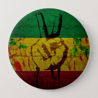 Rastafarian badge 4 inch round button