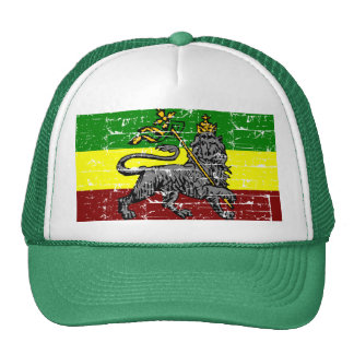 Rastafarian flag design trucker hat
