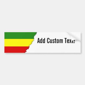 Rastafarian Pride Flag Bumper Sticker