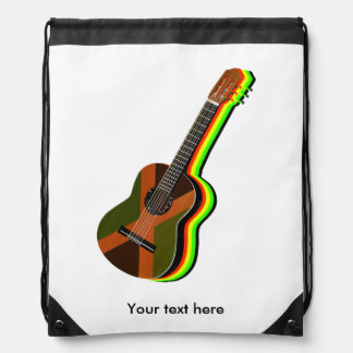 Rastafarian Reggae Guitar Backpacks