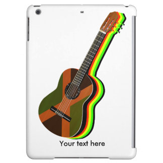 Rastafarian Reggae Guitar Jamaican Flag Cover For iPad Air