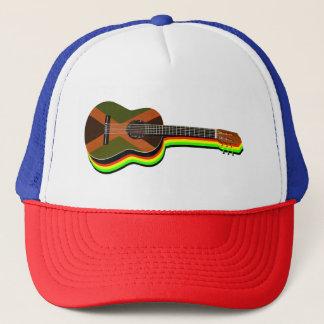 Rastafarian Reggae Guitar Jamaican Flag Trucker Hat