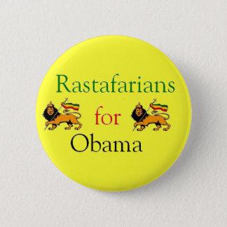 Rastafarians for Obama 2 Inch Round Button