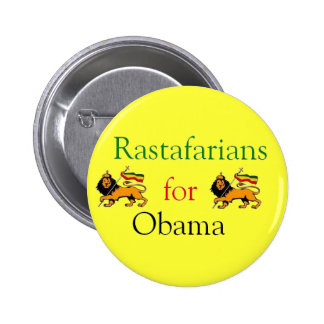 Rastafarians for Obama 2 Inch Round Button