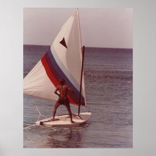 RASTAMAN SAILING IN MONTEGO BAY CANVAS PRINT