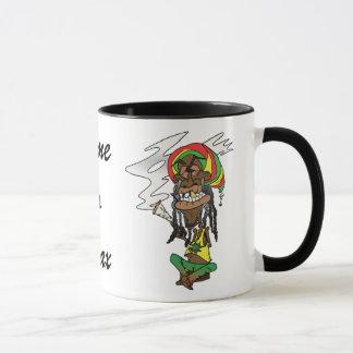 Rastaman with Joint, gold tooth and Jamaica cap Mug