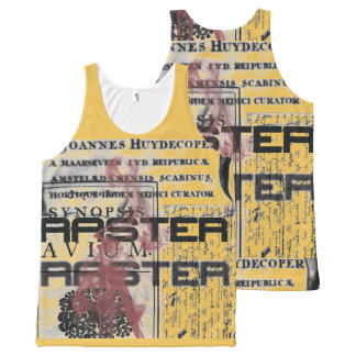 Raster grunge collage All-Over-Print tank top