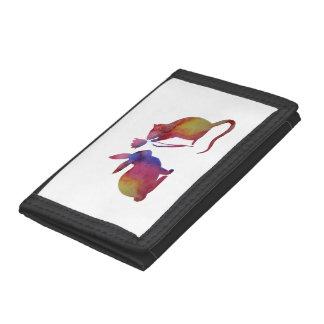 Rat and rabbit tri-fold wallet