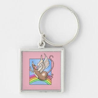 Rat Angel Keychain