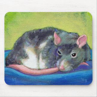 Rat art guardian beautiful smart pet colorful fun mouse pad