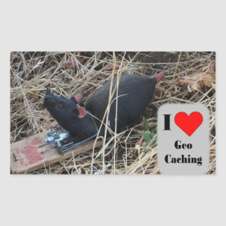 Rat cache hide: Geocaching Sticker