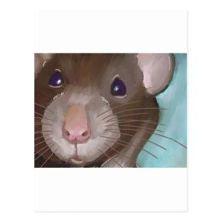 Rat face postcard