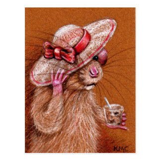 Rat in Floppy Hat Postcard
