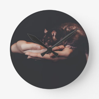 Rat in hand... round clock