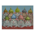 Rat in St Basil's onion dome hats postcard