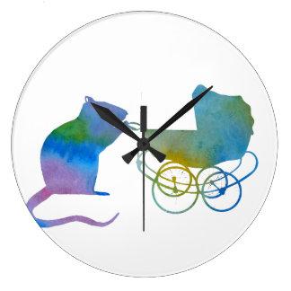 Rat Large Clock