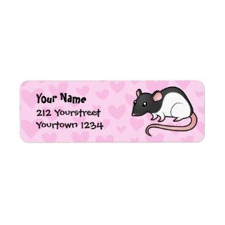 Rat Love Return Address Label
